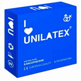 Классические презервативы Unilatex Natural Plain - 3 шт.